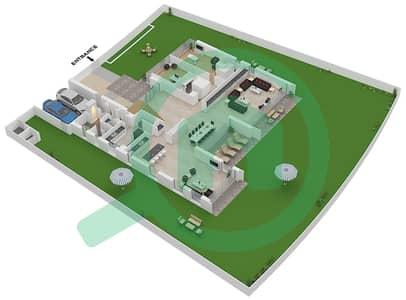 المخططات الطابقية لتصميم النموذج B3-C فیلا 6 غرف نوم - غولف بلايس