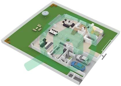 المخططات الطابقية لتصميم النموذج D3-C فیلا 5 غرف نوم - غولف بلايس