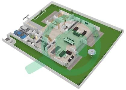 المخططات الطابقية لتصميم النموذج D4-A فیلا 6 غرف نوم - غولف بلايس