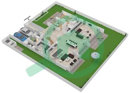 المخططات الطابقية لتصميم النموذج D4-C فیلا 6 غرف نوم - غولف بلايس