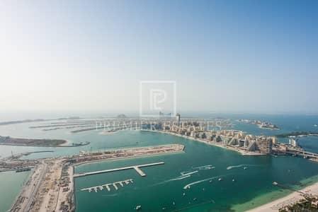 5 Bedroom Penthouse for Sale in Dubai Marina, Dubai - Penthouse|Shell and Core|Sea & Palm view