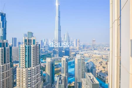 شقة 3 غرف نوم للايجار في وسط مدينة دبي، دبي - Full Burj Khalifa and Fountain Views | High Floor