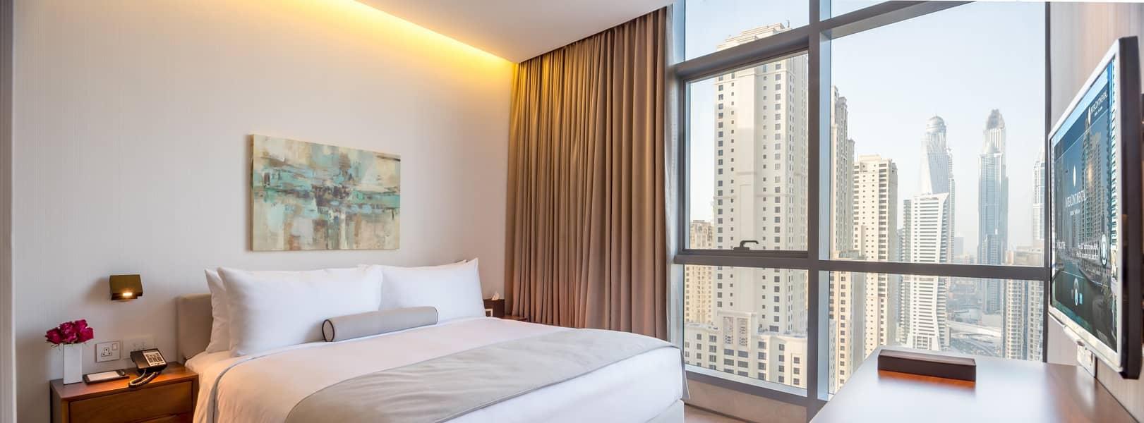 Spacious JBR/Marina View Apartment - Fully Serviced