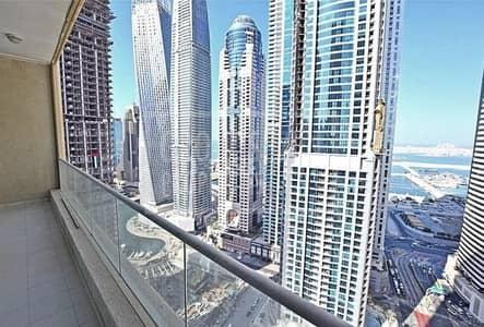 شقة 2 غرفة نوم للبيع في دبي مارينا، دبي - Amazing High floor full Sea view 2 Bed apartment in Marina Heights 1