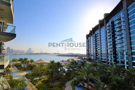 شقة 1 غرفة نوم للبيع في نخلة جميرا، دبي - Sea and pool view spacious resort apartment