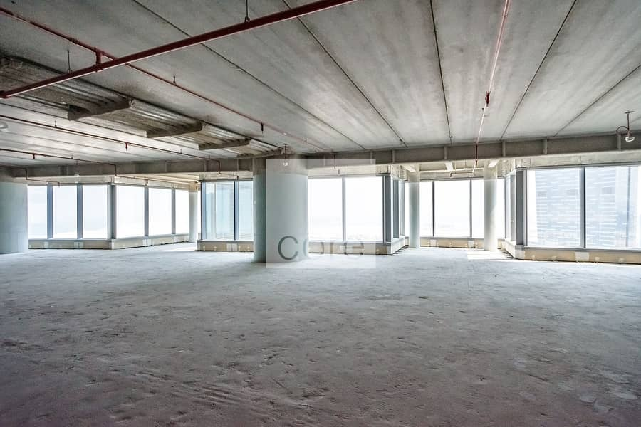 Spacious | Shell and Core Office | High Floor