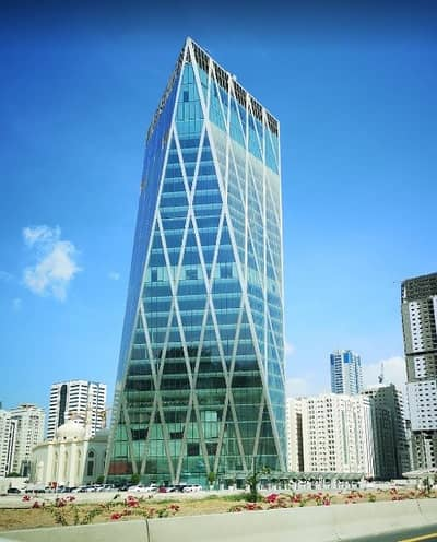 Office for Rent in Al Taawun, Sharjah - Premium Offices in City Gate Tower Fully Fitted