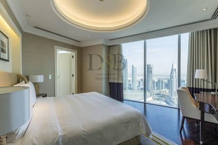 4 Bedroom Flat for Rent in Downtown Dubai, Dubai - SKY COLLECTION 4+MAID WITH FULL BURJ VIEWS