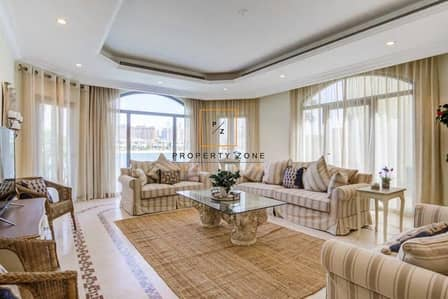 5 Bedroom Villa for Rent in Palm Jumeirah, Dubai - Burj View | Fully Furnished Villa in Frond C