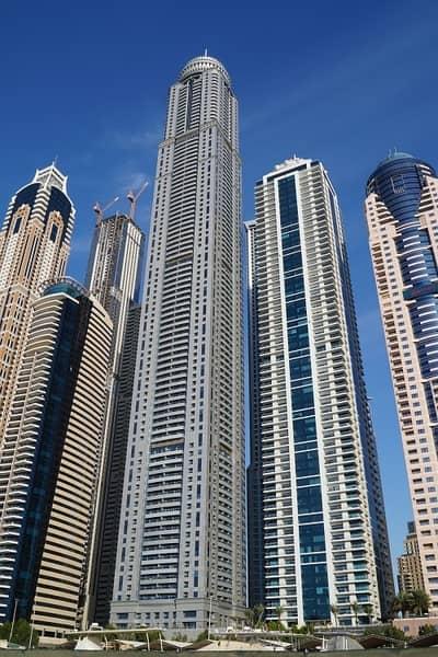 فلیٹ 1 غرفة نوم للايجار في دبي مارينا، دبي - 1Bed Apartment | High Floor | Well Maintained