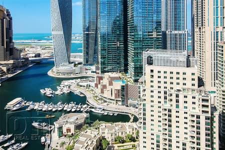2 Bedroom Apartment for Rent in Dubai Marina, Dubai - Marina & Golf View - 2 Bed + Study - Chiller Free