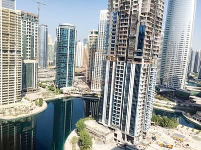 Office for Sale in Jumeirah Lake Towers (JLT), Dubai - Amazing Lake View Shell and Core Office - Vacant