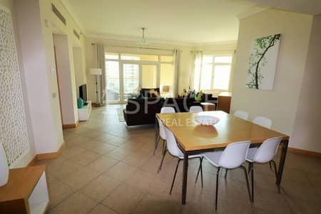 3 Bedroom Apartment for Rent in Palm Jumeirah, Dubai - Sea Views   1 Month Rent Free   4 Chqs