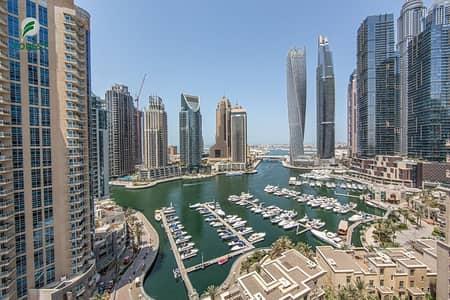 3 Bedroom Flat for Sale in Dubai Marina, Dubai - Furnished | 4BR + Maids | Full Marina and Sea View