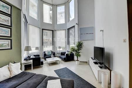شقة 2 غرفة نوم للايجار في تلال الجميرا، دبي - 2Br I Duplex Loft I Lake View I Semi-Furnished