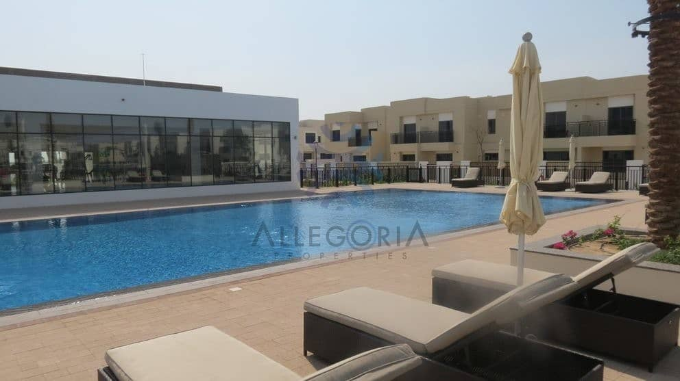 Brand New 3 Bedrooms Plus Maid Close To Pool
