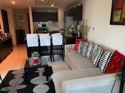 فلیٹ 1 غرفة نوم للايجار في دبي مارينا، دبي -  Furnished 1 BR on High floor