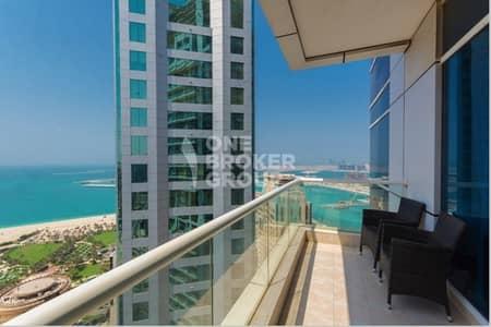 فلیٹ 1 غرفة نوم للايجار في دبي مارينا، دبي - Full Sea View