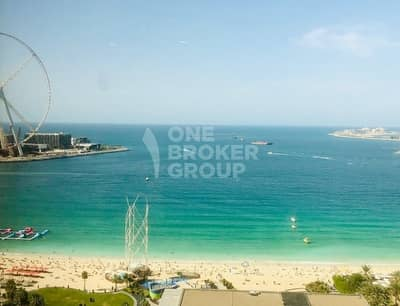 2 Bedroom Flat for Sale in Jumeirah Beach Residence (JBR), Dubai - Full sea view | Close to beach&Mall;&Metro;|Vacant