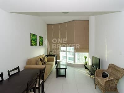 فلیٹ 1 غرفة نوم للايجار في دبي مارينا، دبي - High floor | Fully furnished 1 bed | Vacant