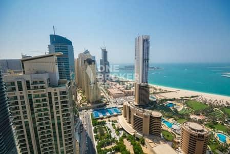 شقة 1 غرفة نوم للايجار في دبي مارينا، دبي - Full Sea View