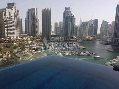 1 Bedroom Apartment for Sale in Dubai Marina, Dubai - Best Deal! Full Marina View 1 BR for 1.75