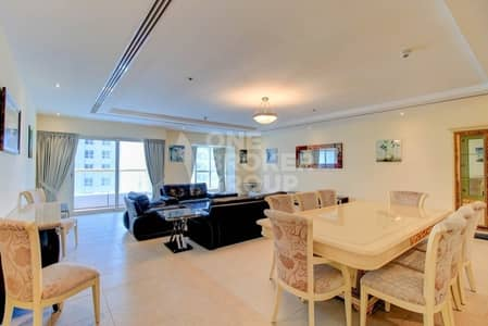 4 Bedroom Apartment for Rent in Dubai Marina, Dubai - Penthouse Type 4 BR| Fully Furnished| Sea View