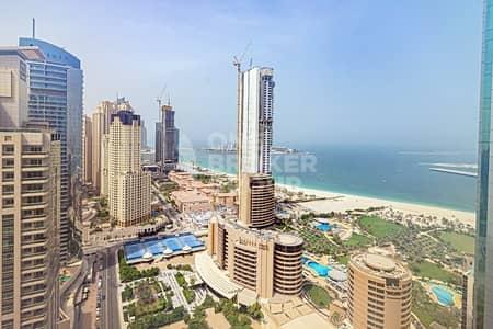 فلیٹ 1 غرفة نوم للايجار في دبي مارينا، دبي - Exclusive | High Floor Corner Unit | Full Sea View