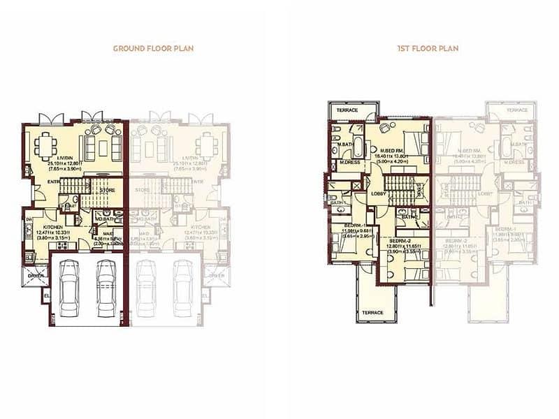 2 Single Row Type 3S3 | Next To Tennis Court