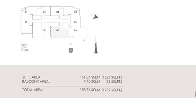 12  3 Bedroom + Maid