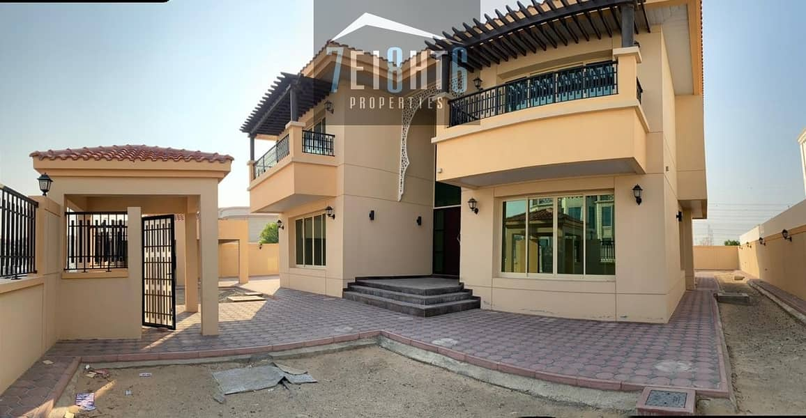 10 Beautifully presented: 5 b/r indep villa + maids room + landscaped garden for rent in Barsha South 1