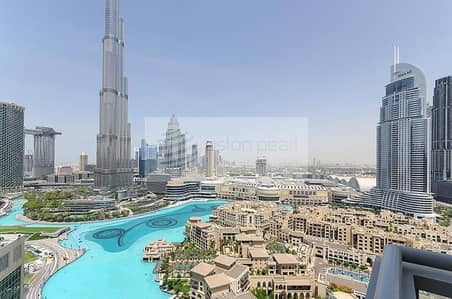 3 Bedroom Flat for Rent in Downtown Dubai, Dubai - All Beds are Ensuite | Burj and Fountain View