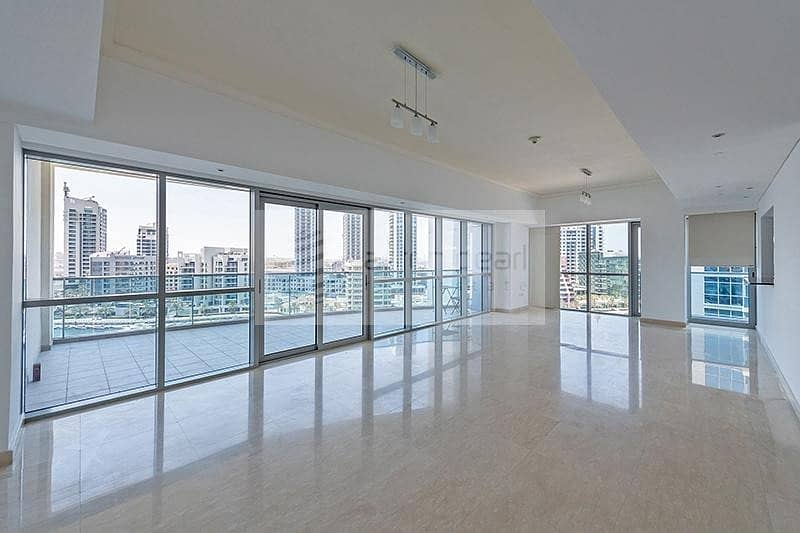 1 Luxury 3 BR+M | Full Marina View | Vacant Now