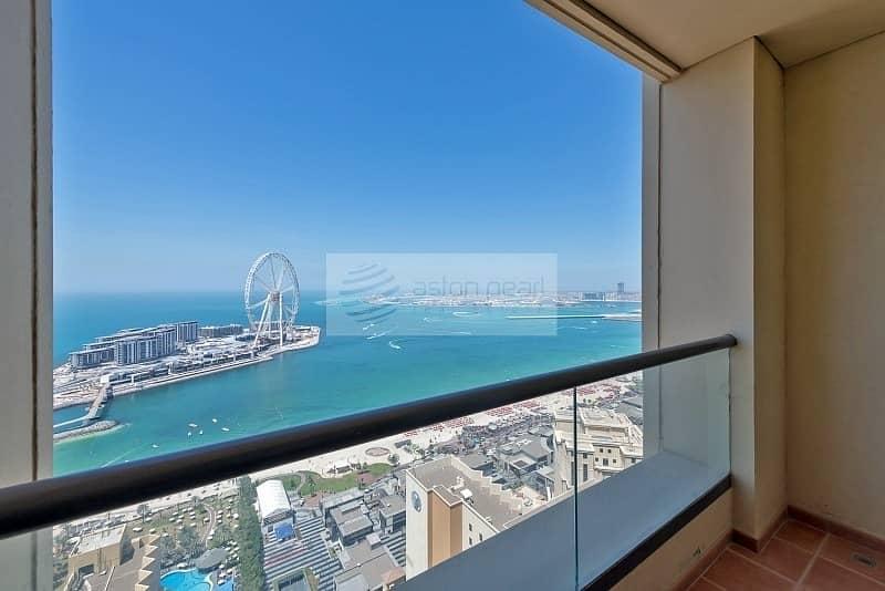 Full Sea and Dubai Eye Views |  Renovated 2BR