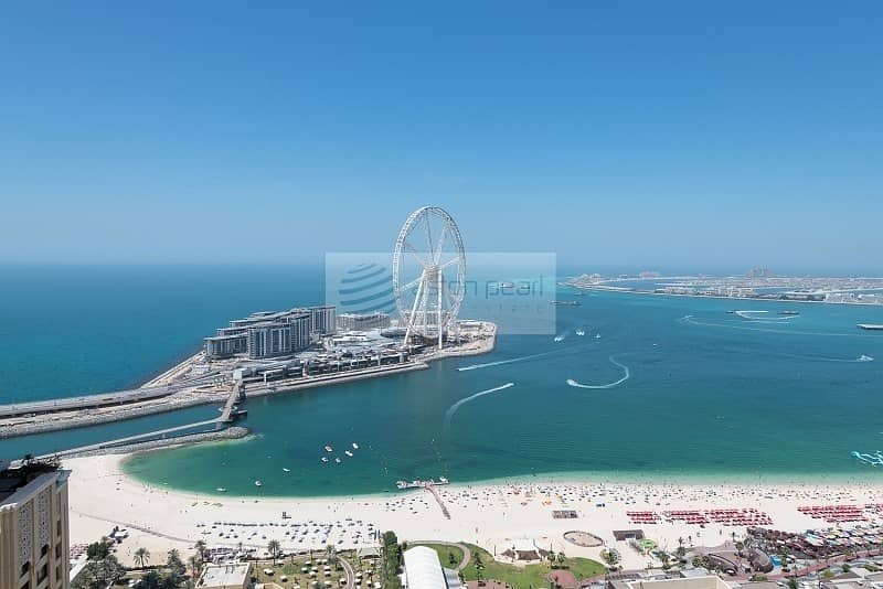 2 Full Sea and Dubai Eye Views |  Renovated 2BR