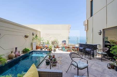 بنتهاوس 4 غرفة نوم للبيع في جي بي ار، دبي - Upgraded Perfect Condition 4 BR Duplex Penthouse