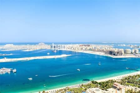 فلیٹ 1 غرفة نوم للايجار في دبي مارينا، دبي - Fully Furnished | Full Sea View | Largest Layout