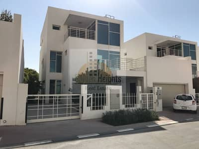 4 Bedroom Villa for Rent in Al Sufouh, Dubai - Fully Furnished 4br+m Townhouse Villa in Acacia Avenue for Rent