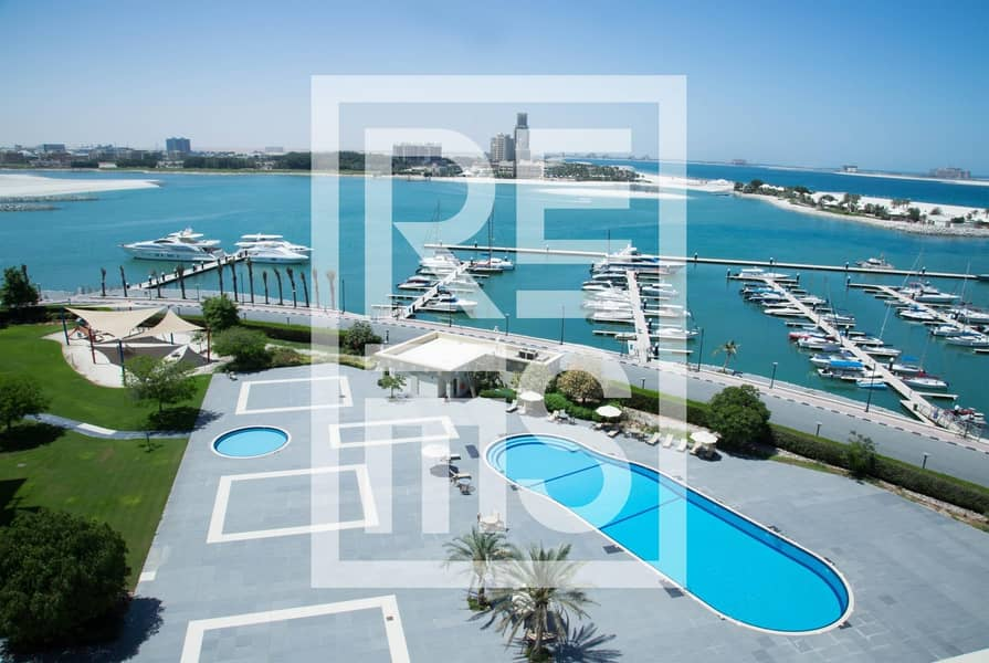 10 Stunning  Sea View 1BR in the Marina Residences