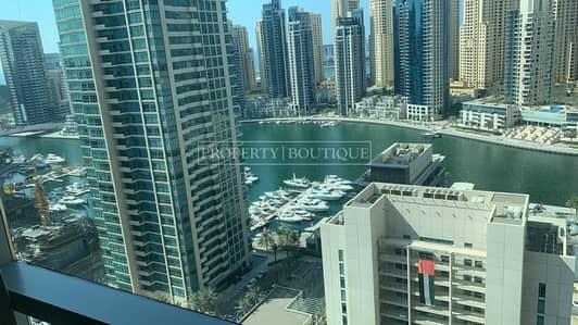 3 Bedroom Apartment for Rent in Dubai Marina, Dubai - Upgraded 3Bed + Maid   Marina View   High Floor