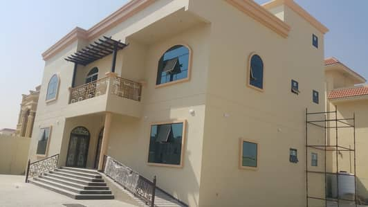 6 Bedroom Villa for Rent in Al Raqaib, Ajman - Super Deluxe Villa for rent new in Al Raqeeb 6 master rooms 120000 AED