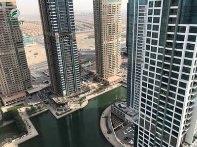 2 Bedroom Flat for Rent in Jumeirah Lake Towers (JLT), Dubai - Spacious Unfurnished 2BHK Full Lake View