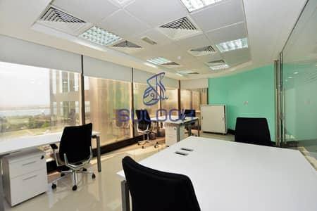 مکتب  للايجار في منطقة الكورنيش، أبوظبي - Elegant Office including all facilities in Corniche