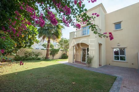 3 Bedroom Villa for Sale in The Lakes, Dubai - Single Row Type CE | 3BR plus Study and Maids | Opposite Park