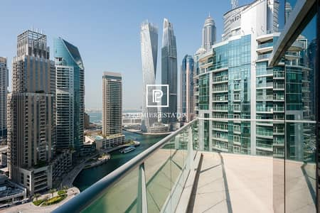 فلیٹ 3 غرفة نوم للايجار في دبي مارينا، دبي - Full Marina view 3 Bedroom Maids with Storage Room
