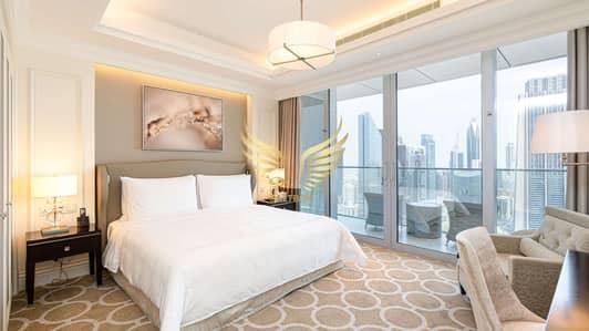 شقة فندقية 3 غرفة نوم للايجار في وسط مدينة دبي، دبي - Connected to Dubai Mall | Stunning Furnished | No Bills