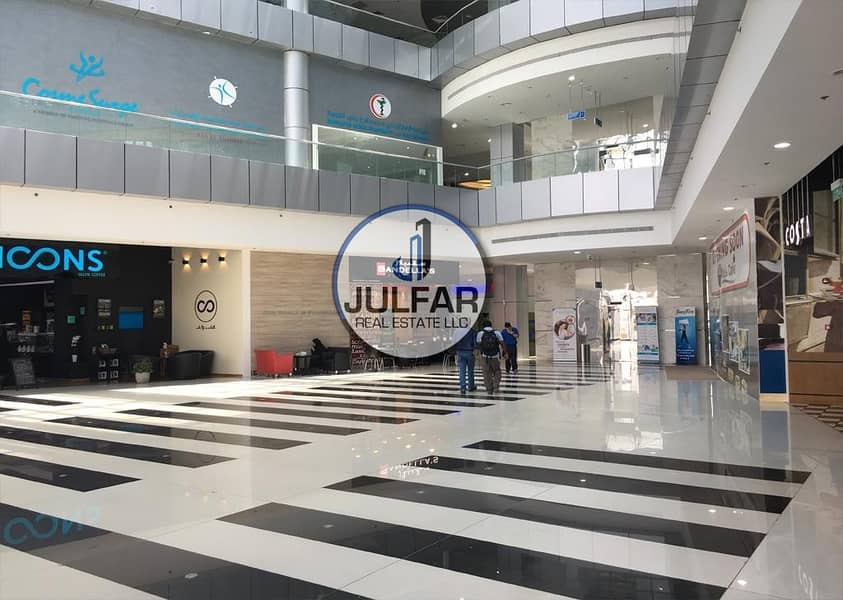 10 Partial Sea View Office FOR RENT in Julphar Tower.