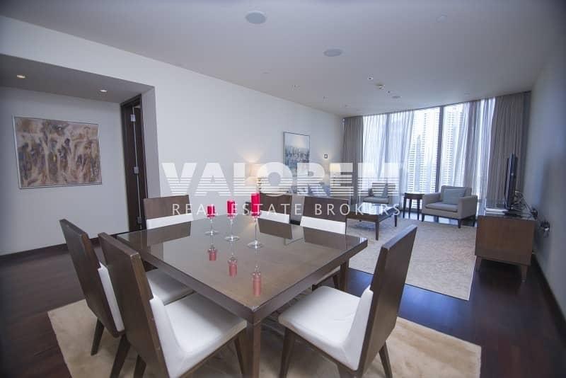 2 Apartment 2 beds / Study / High floor Burj Khalifa