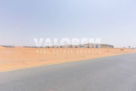 Plot for Sale in Emirates Modern Industrial Area, Umm Al Quwain - Large Size Rare Leasehold plot for Sale near MBZ Road UAQ