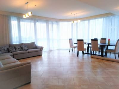 3 Bedroom Apartment for Rent in Jumeirah Beach Residence (JBR), Dubai - Full Sea View Free Chiller & Gas  Fully Furnished3+Maid